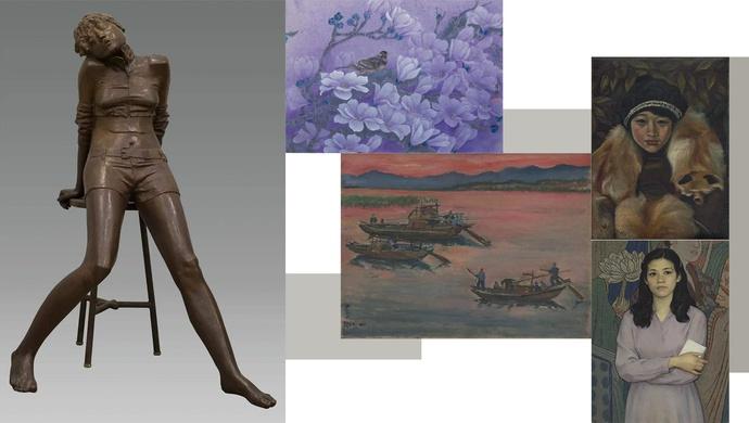 致敬抗疫一线的女性医护人员,线上看刘海粟美术馆馆藏女性题材及女性画家作品展