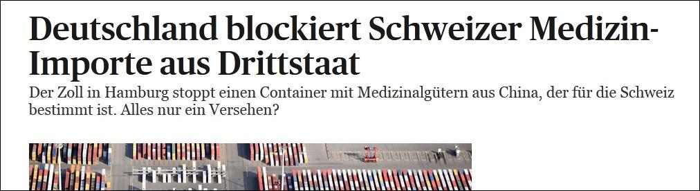 瑞士《每日导报》报道截图