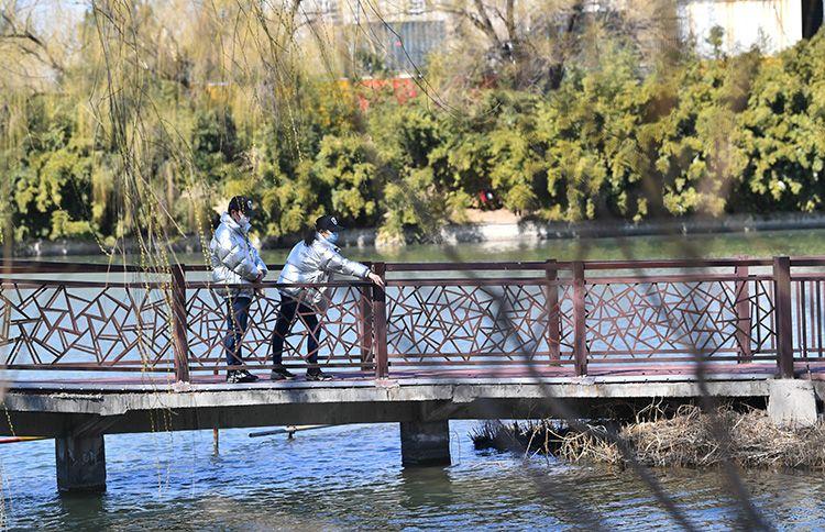 距离产生美 京城春色满园 踏青请保持安全距离图片