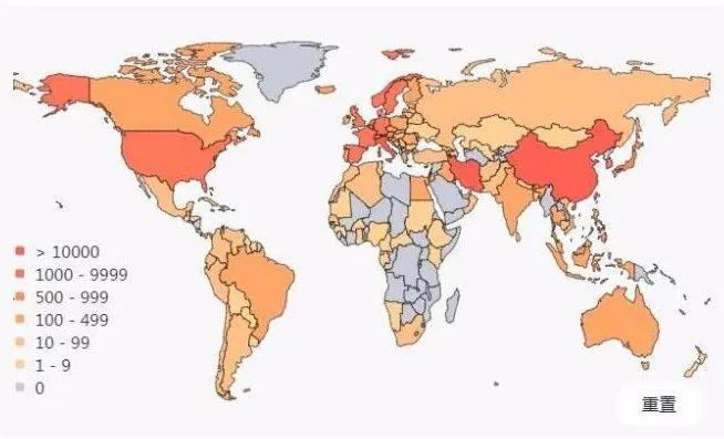 ▲截至3月16日世界疫情分布图。资料图。