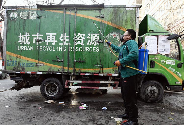 定时消毒 月坛街道再生资源回收站日收日清图片