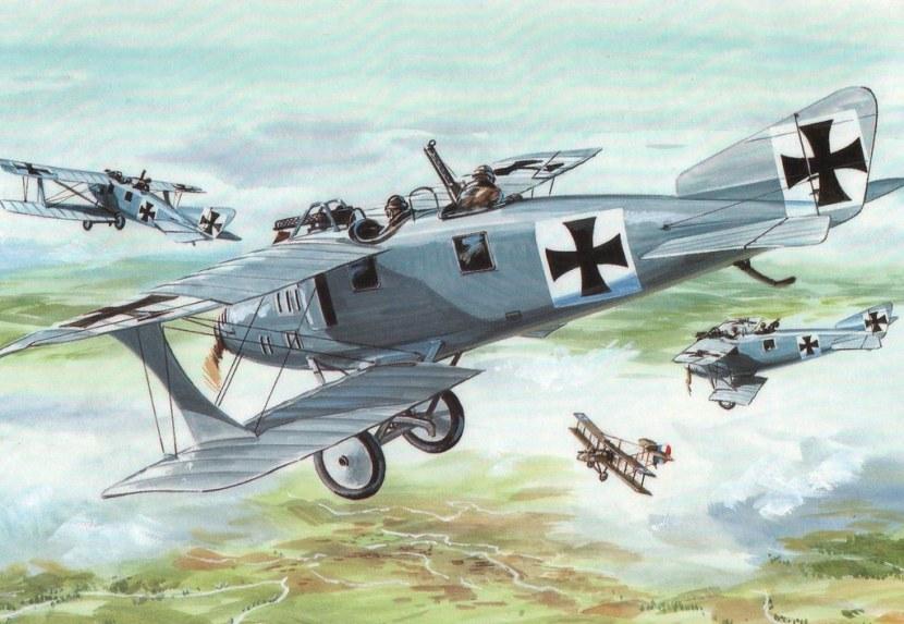第一次世界大战期间飞机变开始使用灰色涂装