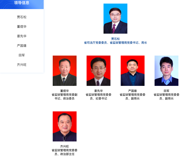 湖北省监狱管理局,高层再调整图片