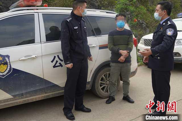 警方抓获林某周。 蓝海文 摄