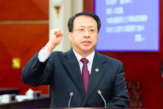 任上海代市长,龚正的现场表态图片