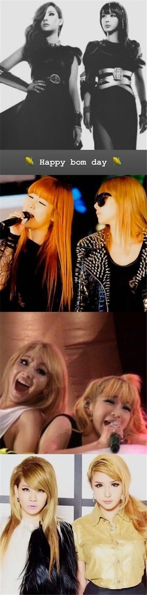 CL通过SNS为朴春庆生 展现2NE1不变的友情