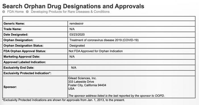 """美国食品和药物管理局的""""孤儿药物认证""""是什么意思?吉利"""