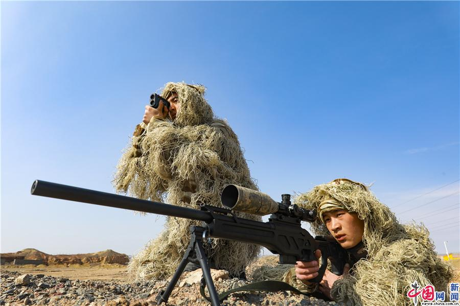 潜伏狙击、伪装侦察......武警新疆总队克拉玛依支队组织狙击手开展实战化训练