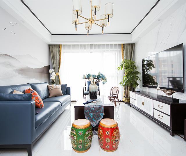 惊艳现代风,宅家也自在,118平米的三居室让人每天都元气满满-众安学君里装修