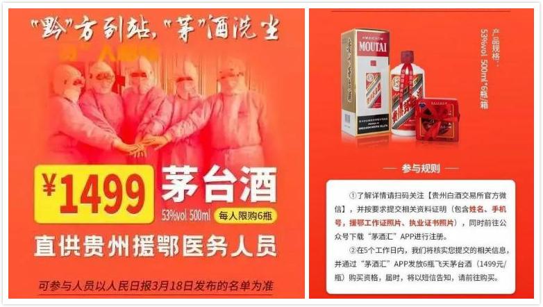 拿援鄂医务人员商业炒作,贵州白酒交易所被约谈整改