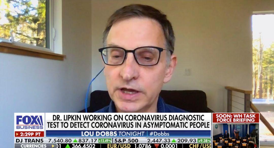 2月24日,利普金教授接受福克斯商业频道采访。/视频截图