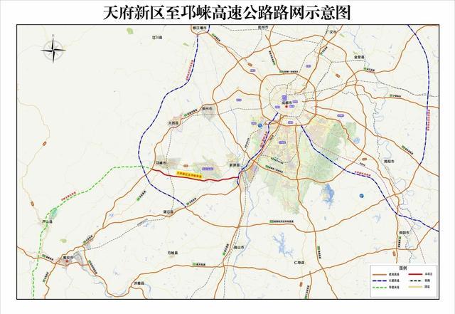 成都到雅安将有第二高速通道,天邛高速公路开建,设计时速120公里