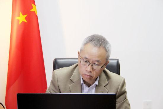 驻意大利大使李军华与全意侨领进行视频座谈