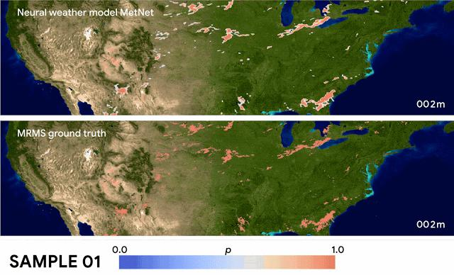Google 发布神经天气模型,几秒钟预测整个美国的降水量