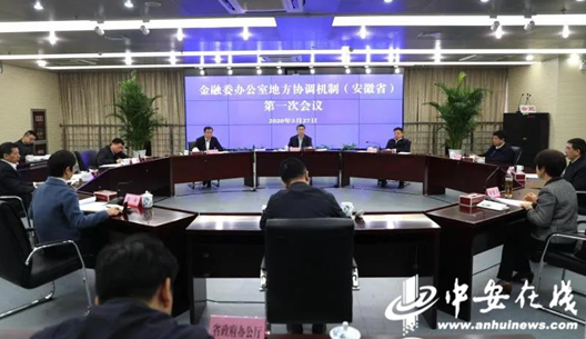 金融委办公室地方协调机制(安徽省)成立