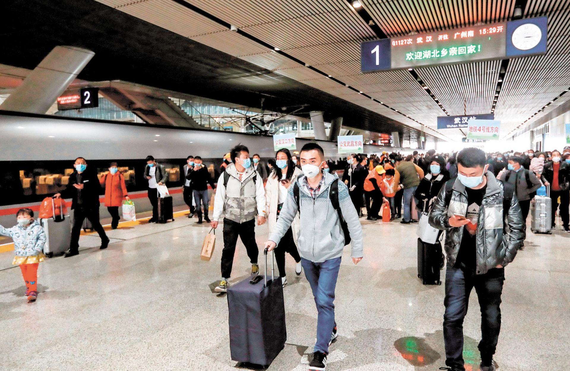 武汉铁路客运恢复到站业务首日,6万多人到达图片