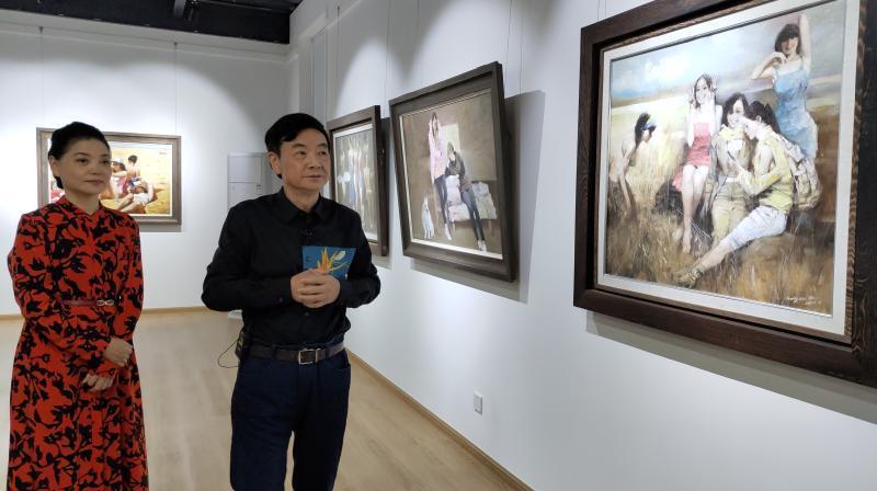 音画直播:广州市美协主席汪晓曙家的抗疫美展