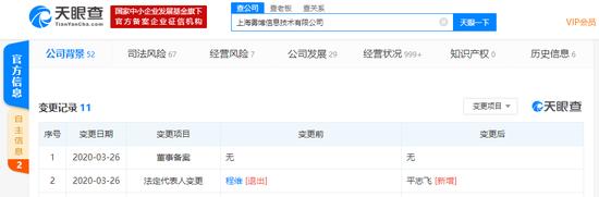 程维卸任原优步中国运营主体法定代表人、执行董事