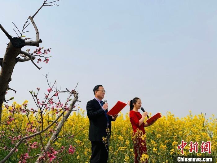 """""""中国果业大县""""山西省运城市临猗县万亩果林花正开。 李泽宇 摄"""