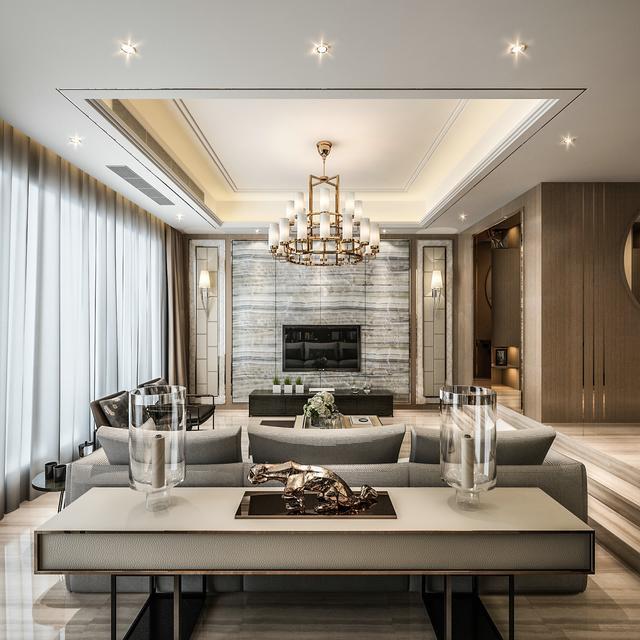 515平米的四居室,运用现代的装修风格效果是怎样的?-仁恒海和院装修