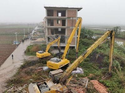 南沙拆除9栋大型违建
