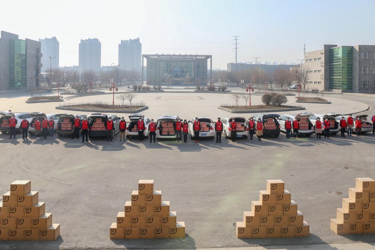 沈阳工学院向辽宁省50所高中捐赠10万只口罩