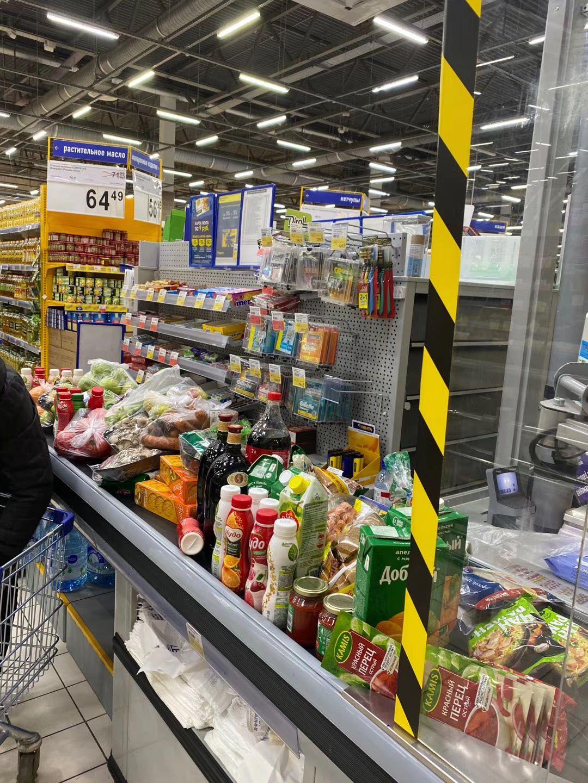 莫斯科当地超市生活物资供应比较稳定。受访者供图