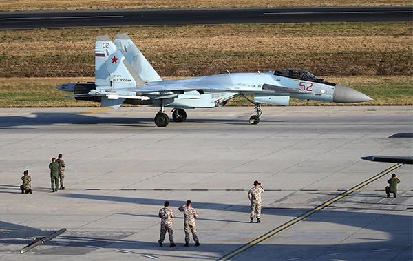 俄罗斯苏-35战斗机。原料图