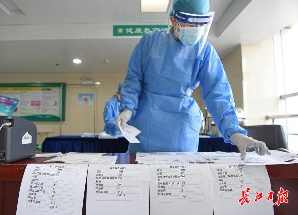 武汉市第三医院(首义院区)开展含核酸检测体检套餐 记者苗剑 摄