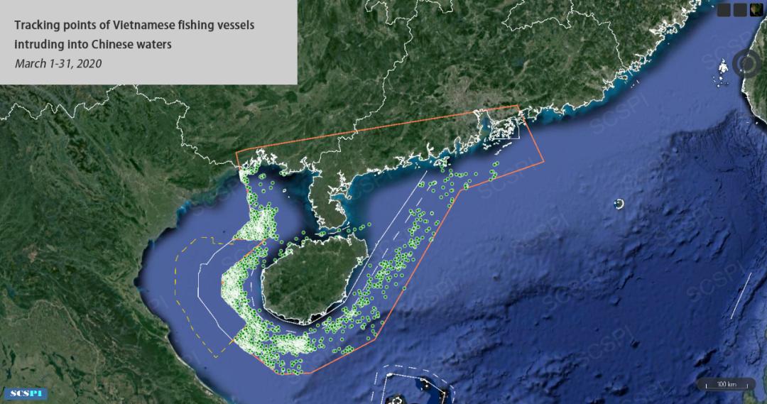 还能更过分吗?几百艘越南渔船都快到海南岛了图片