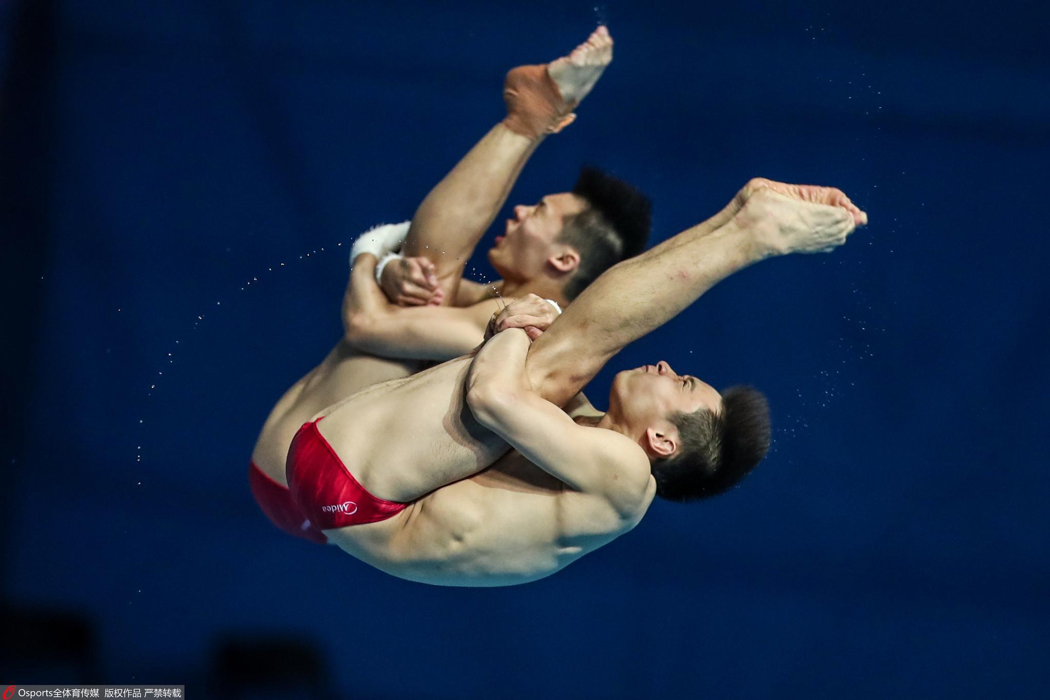 奥运会延期后中国跳水队首次大检阅,双人项目成绩不理想图片