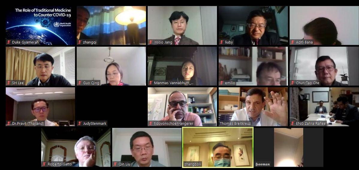 张伯礼院士与WHO专家分享中医治疗新冠肺炎经验