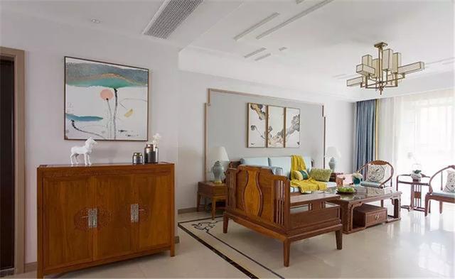 99平米三居室设计说明,11万元装修的中式风格有什么效果?-福星惠誉东湖城装修