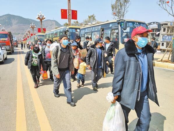 鲁甸县卯家湾安置区迎来最后一批搬迁群众 32347名建档立卡贫困群众全部入住