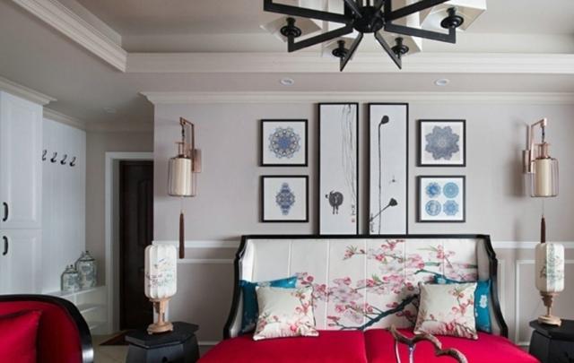 惊艳中式风,宅家也自在,102平米的三居室让人每天都元气满满-紫竹半岛装修