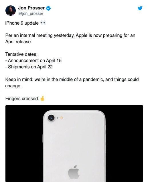iPhone 9或于本月22日开始发货 预计售价不到3千