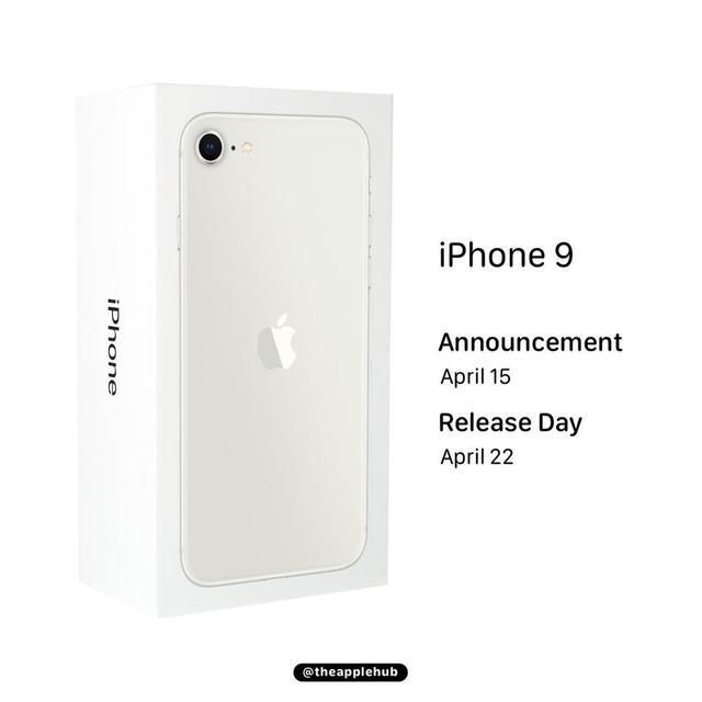 苹果知名爆料人:iPhone 9将在4月15日正式发布