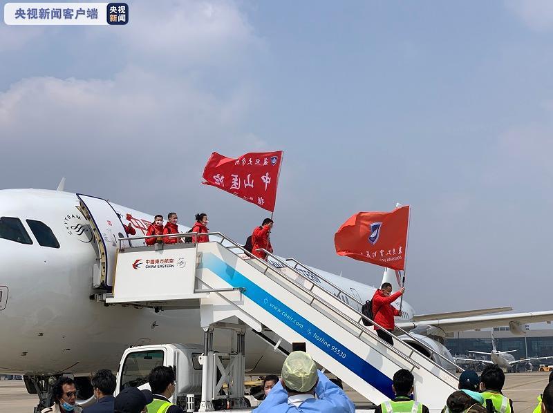 """上海""""陪你看日落医疗队""""136名队员胜利凯旋"""