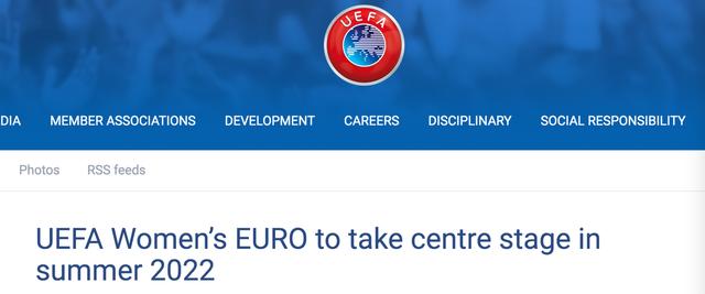 天富足联2天富021年女足欧洲杯延期一年图片