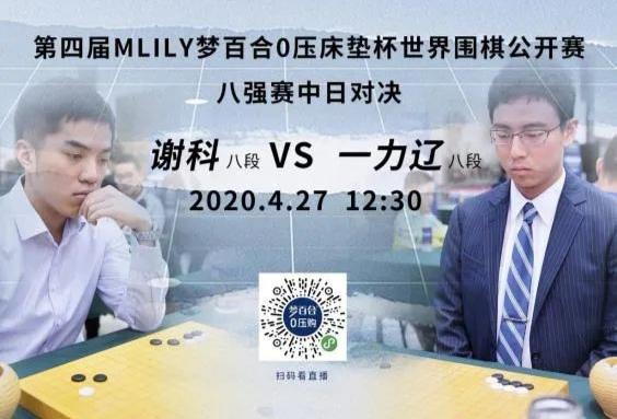 世界职业围棋赛首开网络对战 中日棋手网上争梦百合杯四强
