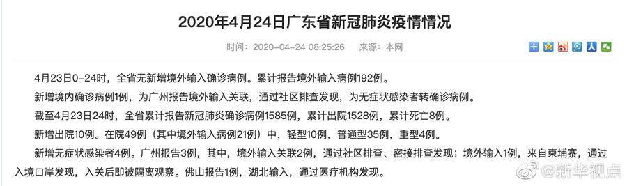 天富:月23日广东省天富新增境外输入确诊病例图片