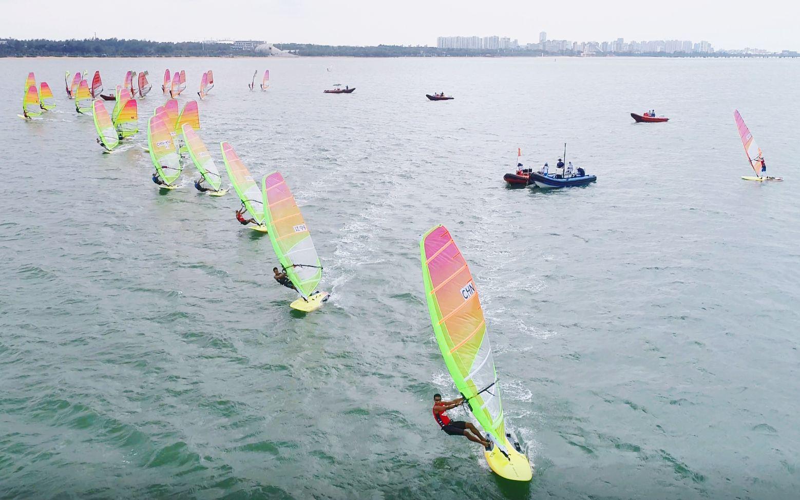 国家帆船帆板队接受奥运会模式检验,重点队员进步明显图片