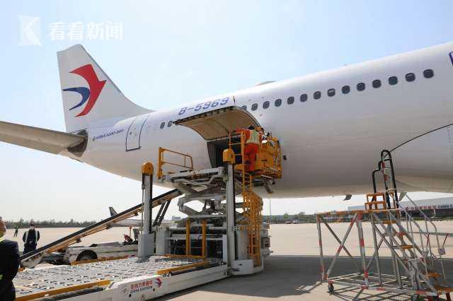 首班全球带货杏悦娱乐航班起航,杏悦娱乐图片