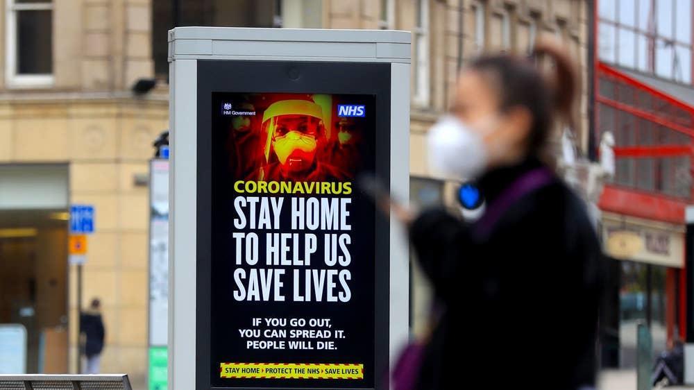 """▲为应对不断蔓延的疫情,英国3月23日开始实施""""禁足令""""。图据CNN"""