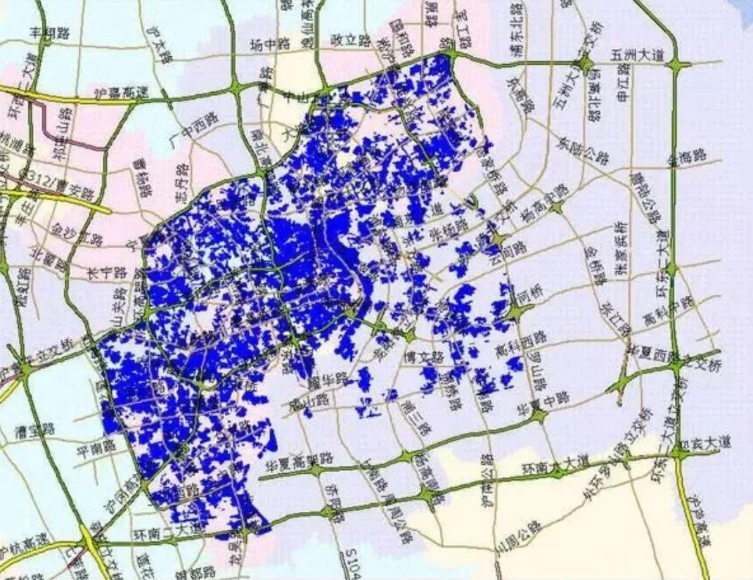 ▲上海市4G信号覆盖范围(作者供图)