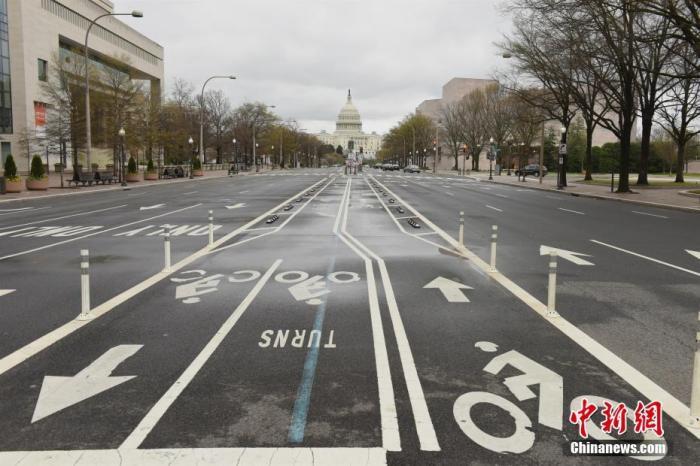 图为疫情下的华盛顿街景。中新社记者 陈孟统 摄
