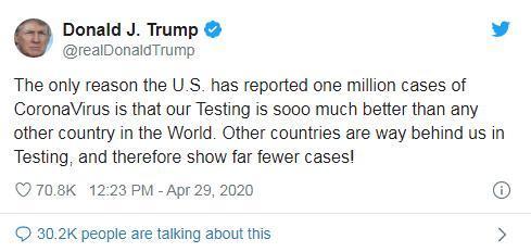 图片截自美国总统特朗普社交媒体账号。