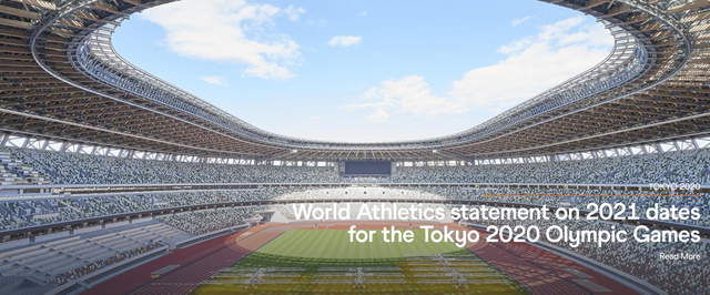 世界田联:支持东京奥运会新日期 2021年田径世锦赛推迟到2022年