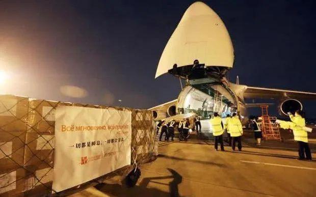 3月24日俄派安-124来华运输防疫物资