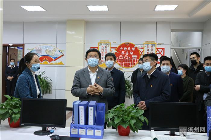 """佘春明到滨城区文汇社区开展""""双报到""""活动"""
